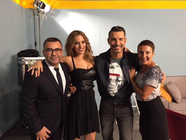 Edurne, Jorge Javier Vázquez, Eva Hache y Jesús antes de grabar