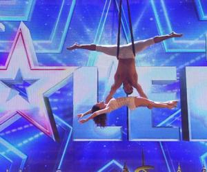 Celia y Marco sorprenden con sus acrobacias aéreas