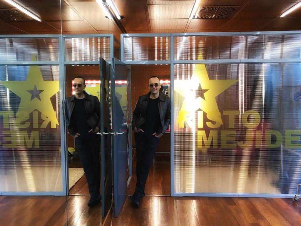 Risto Mejide posa en el camerino de 'Got Talent España'